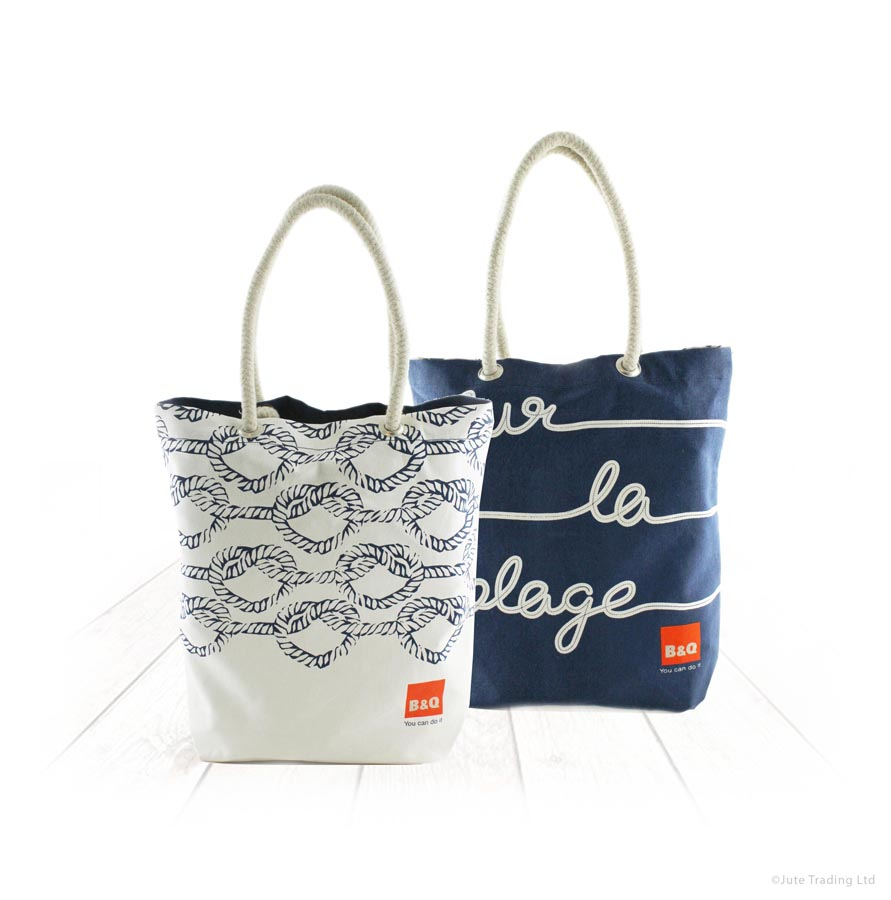 Contrasting Colours On Canvas Bags