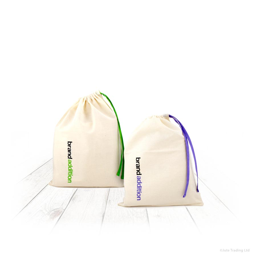 Coloured Drawstring Pouches