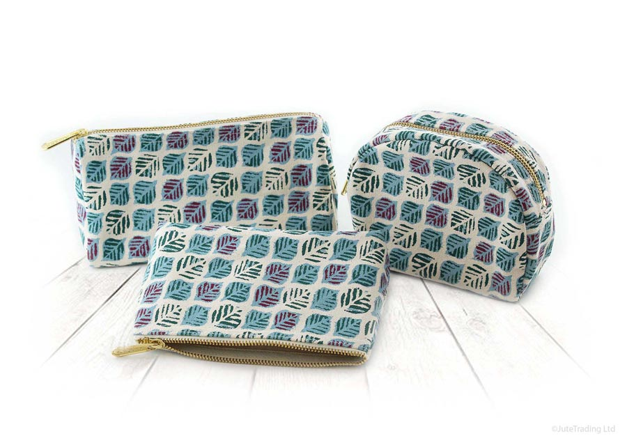 Printed Canvas Pouches