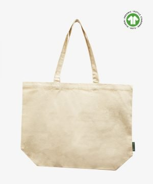 Organic bag with bottom gusset